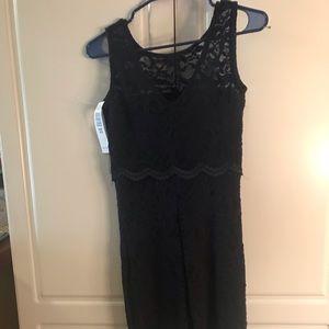 Jump Dresses - Black lace cocktail dress NWT